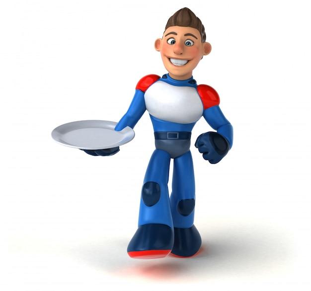 Super moderne superheld - 3d illustratie