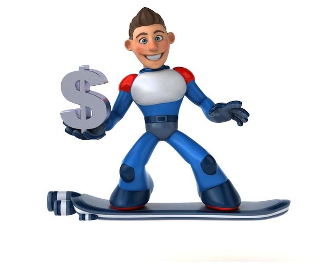Super moderne superheld 3d illustratie