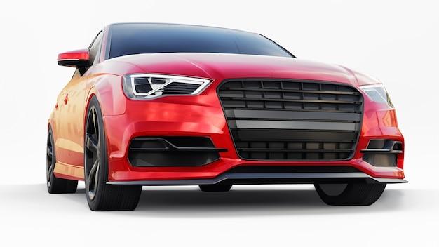 Super snelle sportwagen 3d-rendering
