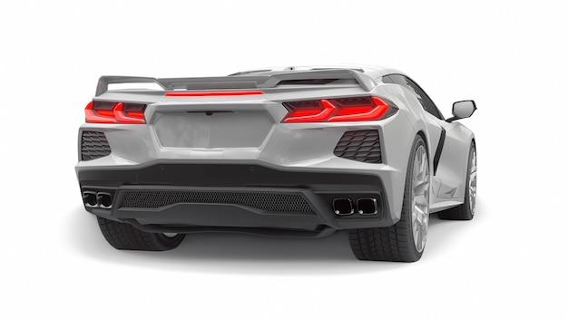 Super sportwagen op een witte achtergrond. 3d illustratie.
