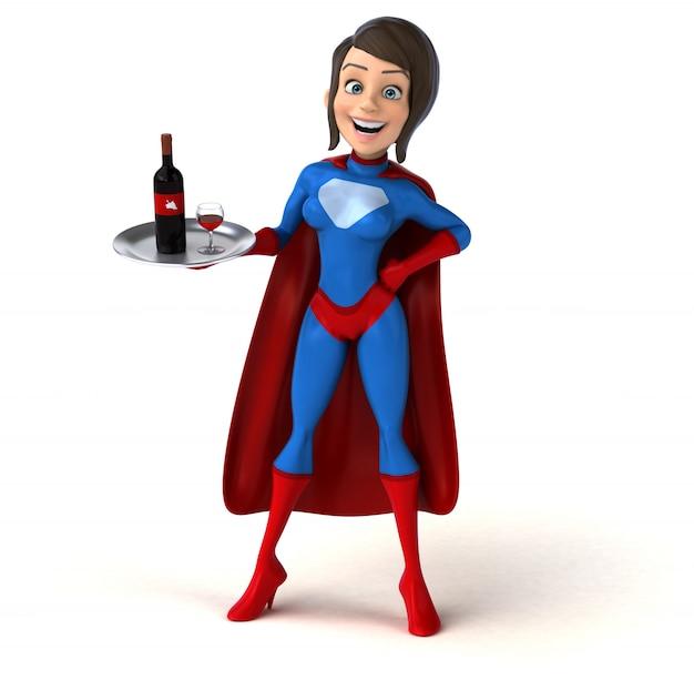 Super vrouw karakter geïsoleerd