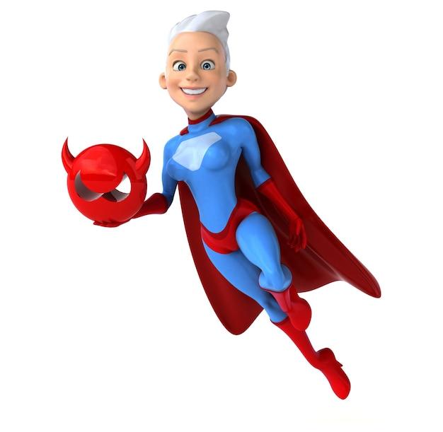Super vrouw met een virusformulier