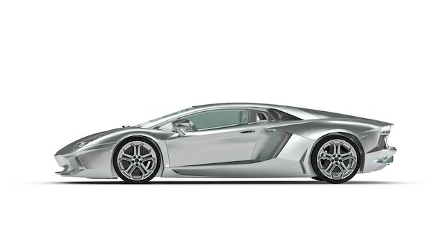 Supercar titanium kleur op een witte ondergrond