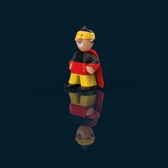 Superheld concept - 3d illustratie