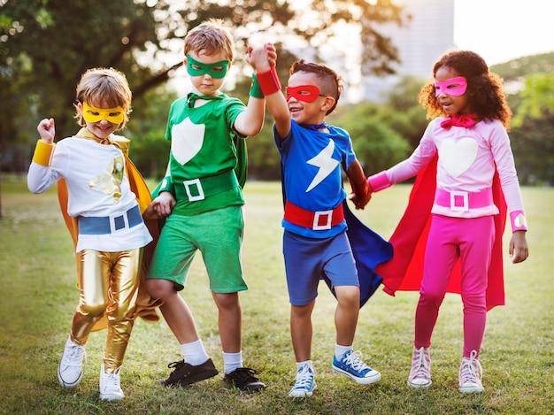 Superheld-kinderen