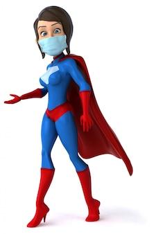 Superheld met een masker