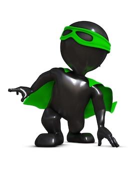 Superheroe klaar om op te treden