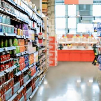 Supermarkt gangpad, drankgedeelte hd-afbeelding