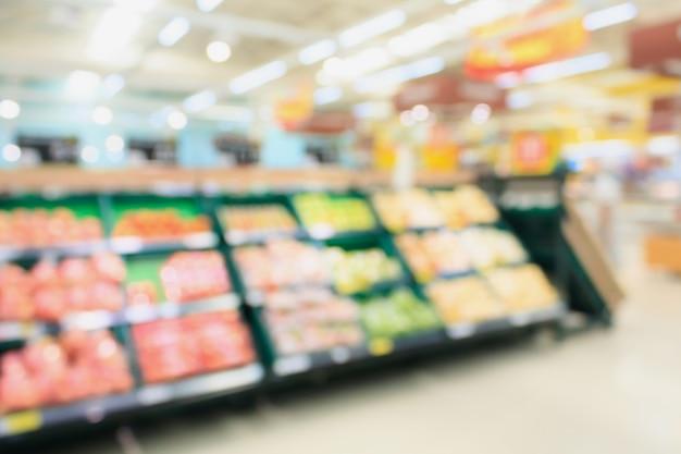 Supermarkt wazig