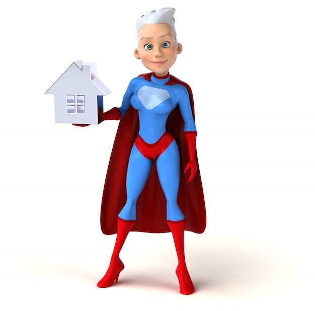 Superwoman 3d-personage