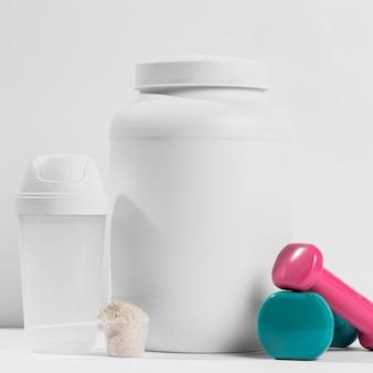 Supplement voor gympot en gewichten