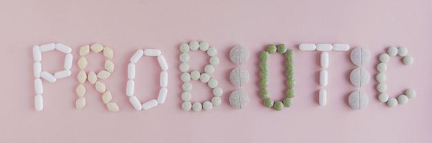 Supplementen in woord van probiotica voor de darmgezondheid
