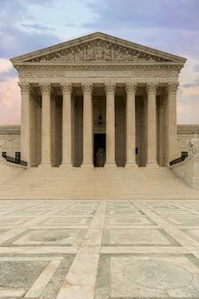 Supreme court, hall of justice gebouw in washington dc, vs.