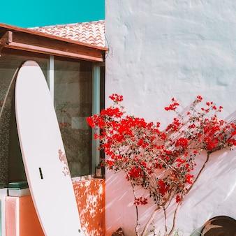 Surf locatie. canarisch eiland. reisconcept