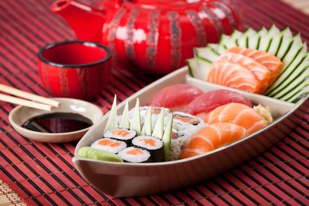 Sushi boot samenstelling