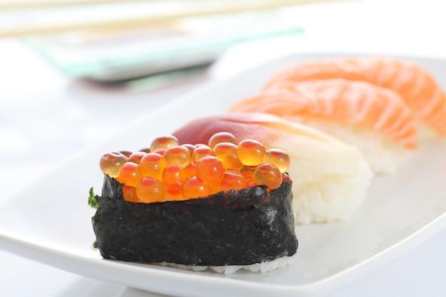 Sushi in het wit