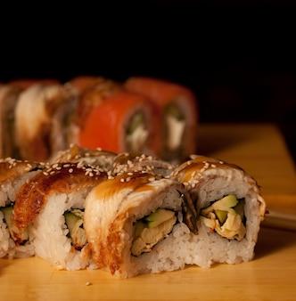 Sushi in japans restaurant