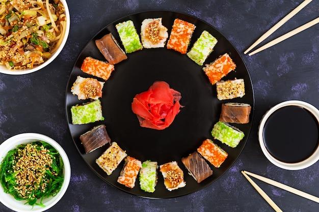 Sushi rol. bovenaanzicht