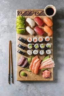 Sushi sashimi ingesteld