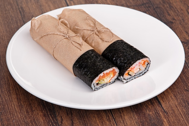 Sushiburrito - nieuw trendy voedselconcept