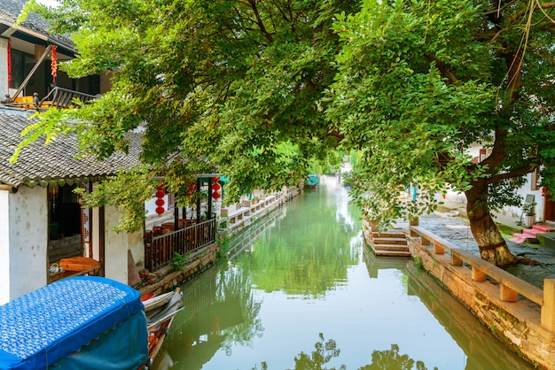 Suzhou oude stad nacht bekijken