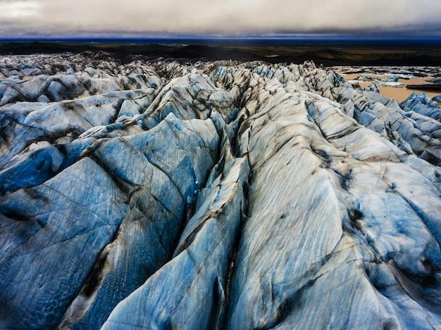 Svinafellsjokullgletsjer in vatnajokull, ijsland.