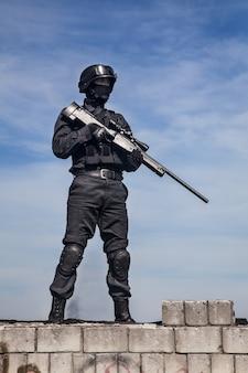 Swat politiesluipschutter