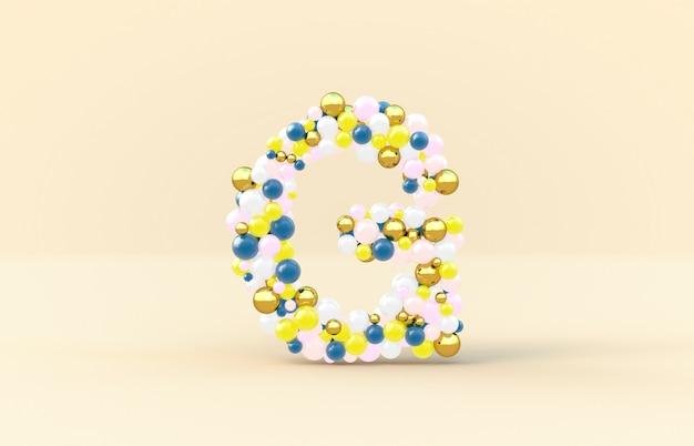 Sweet candy balls letter g
