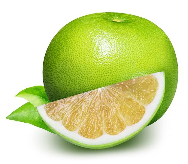 Sweetie, groene grapefruit geïsoleerd