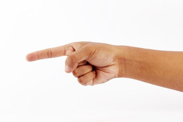 Symboliseer de wijsvinger