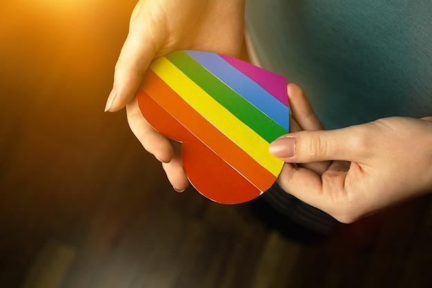 Symbool van lgbt pride maand vieren, gemeenschap van homo's, lesbiennes, biseksuelen en transgenders, mensenrechten concept foto
