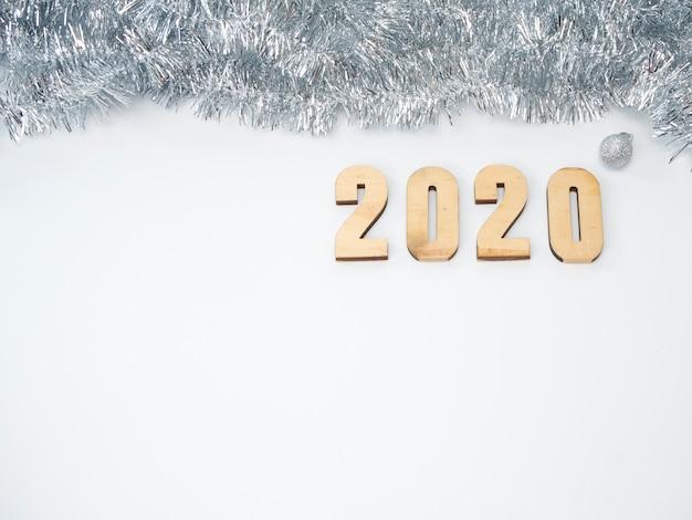 Symbool vanaf nummer 2020. feestelijk nieuwjaar