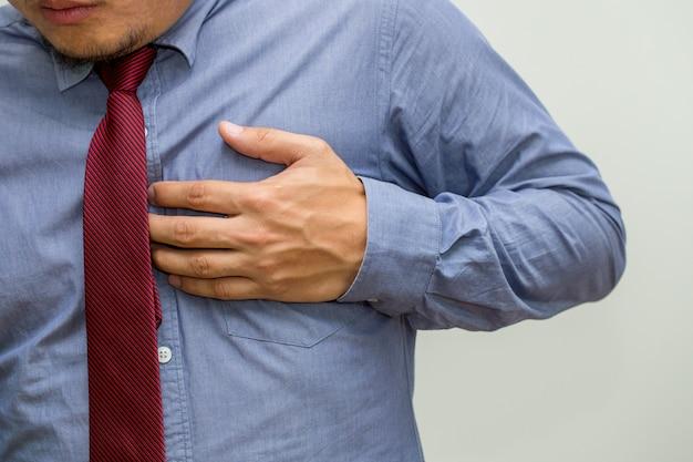 Symptomen van hart-en vaatziekten, waarschuwingssignalen van hartfalen concept
