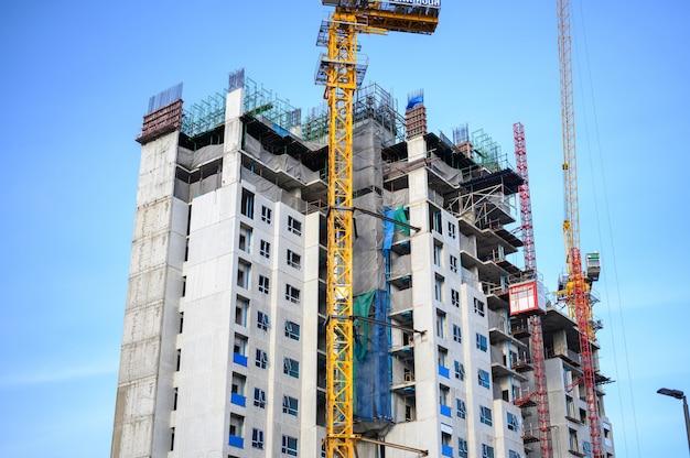 Symptoom bouwproject om commerciële gebouwen te bouwen