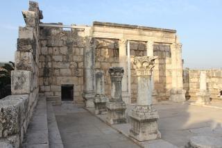 Synagoge van kafarnaüm in galilea