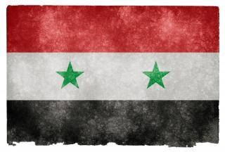 Syrië grunge vlag vuil