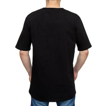 T-shirt met op geïsoleerde mens