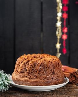 Taart kerst snoep zelfgemaakte taarten zoet dessert kerstkaart nieuwjaar biscuit chocolade