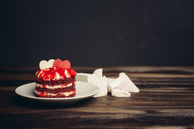 Taart schoteltjes drinken kopje snoep dessert verrukking snack