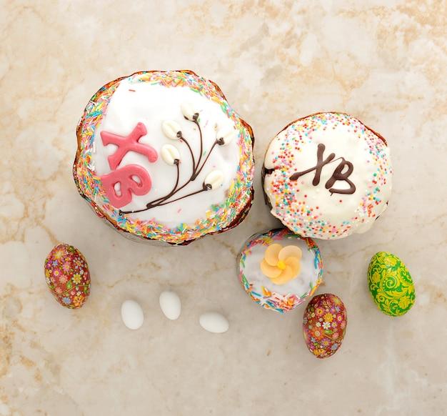 Taarten voor pasen en eieren