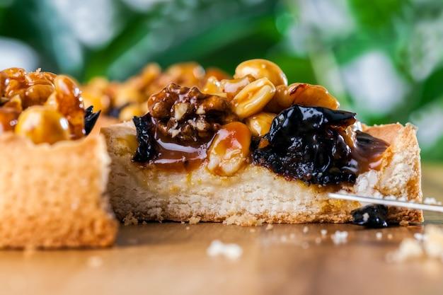 Taartje met noten