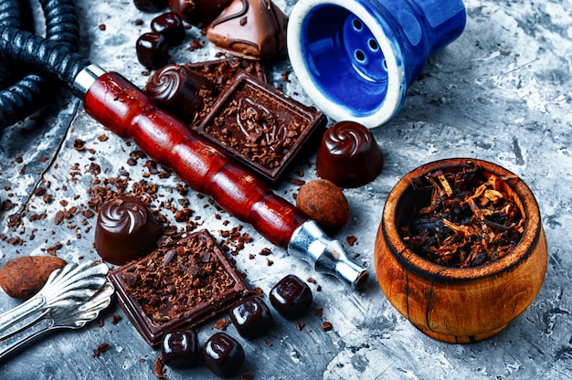 Tabakshisha met chocoladesmaak