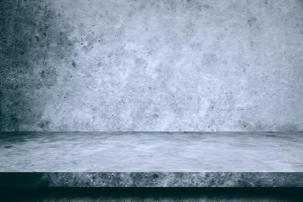 Tabel cement vloer en muur achtergronden, producten van de plankvertoning.