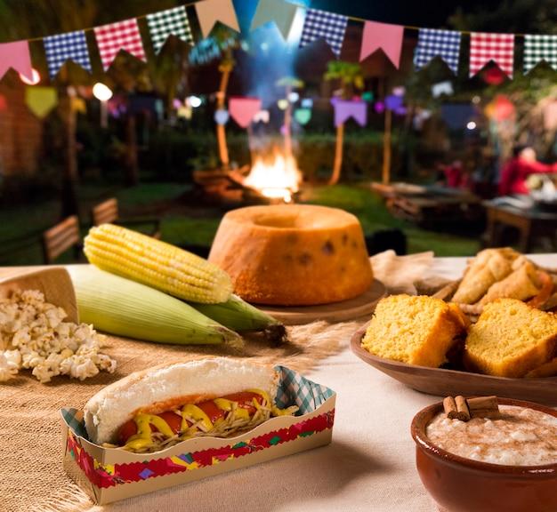 Tabel van braziliaanse festa junina.