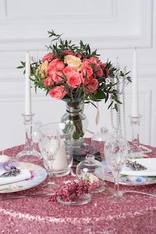 Tabel voor een evenement feest of bruiloft receptie