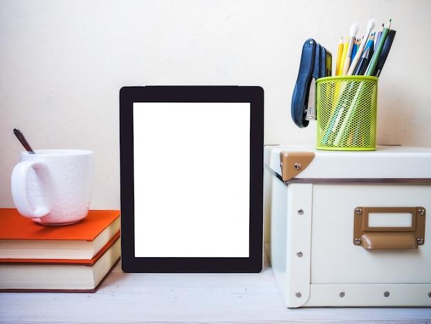 Tablet computer. zijaanzicht