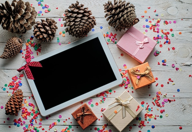 Tablet- en kerstgeschenkdozen