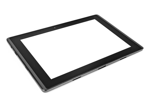 Tablet op wit oppervlak