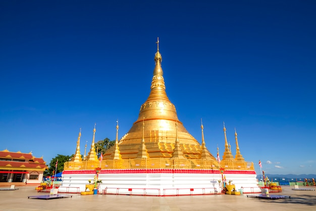 Tachileik shwedagon-pagode, tachileik, myanmar