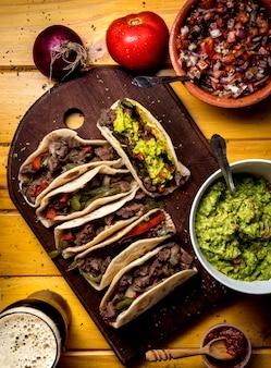 Taco bord, bovenaanzicht